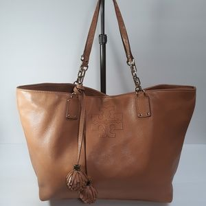 TORY BURCH Thea Leather Tassel Tote